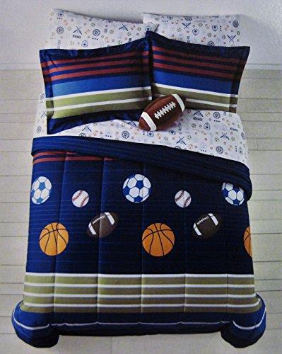 Mvp Sheet Set - Jumping Beans MVP Sport Boys' 7 Pc Bedding Set, Full