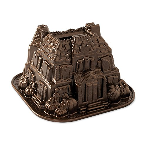 Nordic Ware 92648 Haunted Manor Bundt Pan, One, Bronze