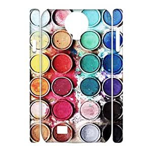 ZK-SXH - Watercolor Palette Brand New Durable 3D Cover Case Cover for SamSung Galaxy S4 I9500, Watercolor Palette Cheap 3D Cover Case
