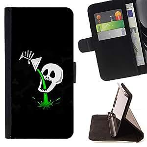 Momo Phone Case / Flip Funda de Cuero Case Cover - Cóctel divertido veneno Cráneo de la muerte - Sony Xperia M5