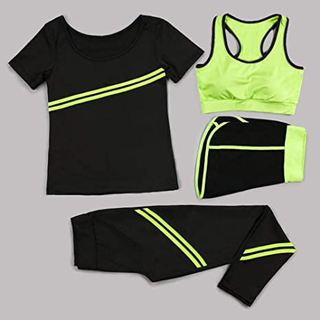 QUANWU Yoga Clothing Suit Spring and Summer Gym Yoga Running ...