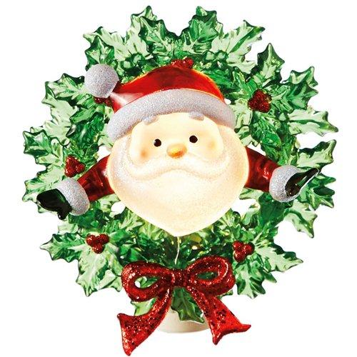 MIDWEST-CBK Santa in a Wreath Night Light