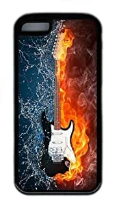 iPhone 5C Case and Cover - Creative Guitar TPU Case Cover For iPhone 5C - Black hongguo's case