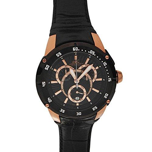 Adee Kaye Ak6003-mrgblk Chronograph Mens Watch