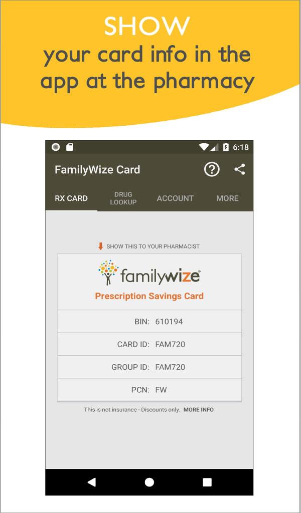 Amazon com: FamilyWize Prescription Discount Card: Appstore for Android