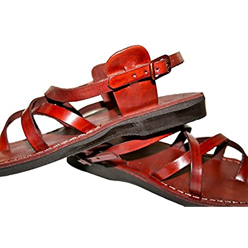 b82f52ceebe8 delicate Brown Triple Leather Sandals For Men   Women - Handmade Unisex  Sandals