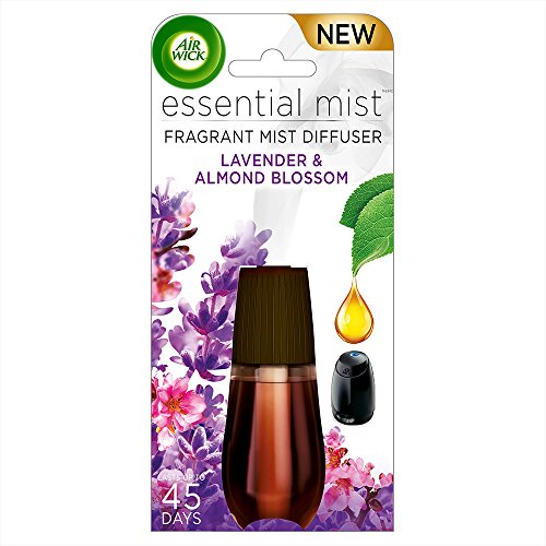 Air Wick Essential Oils Diffuser Mist Refill, Lavender & Almond Blossom, 1ct, Air Freshener