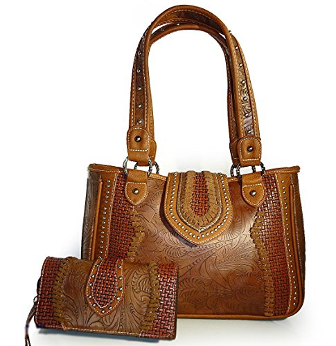 trinity-ranch-floral-tooled-shoulder-bag-w-leather-accents-wallet-brown
