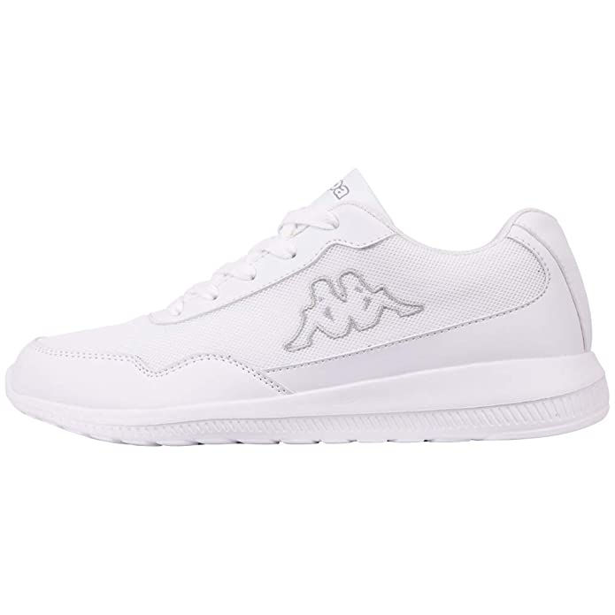 Kappa Follow Sneakers Damen Herren Unisex Weiß/Grau (Sohle Weiß)