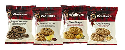 Walkers Shortbread Snack Packs Scottish Cookie Assortment, 0.88 Ounce (100 Count)