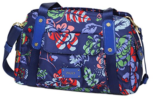 Oilily Sporty Flowers M Carry All - Navy 0FhQw3dxY