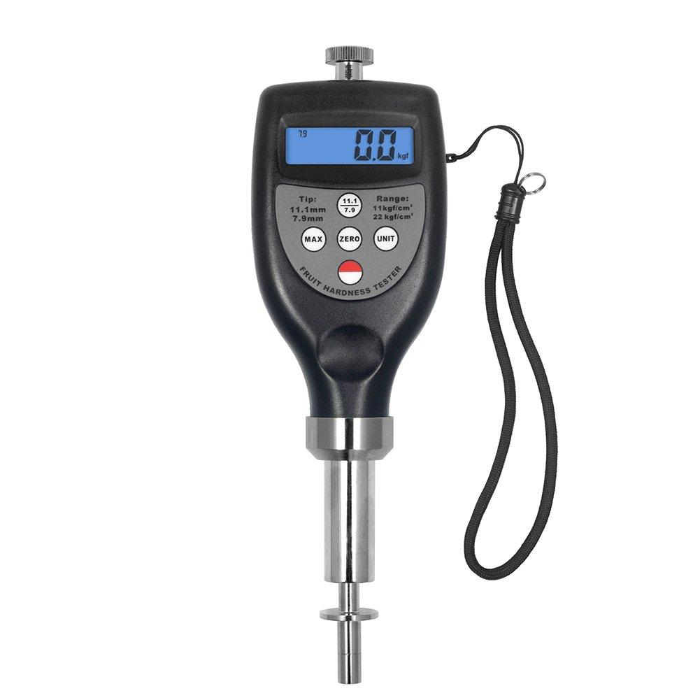 FHT-1122Fruit Hardness Gauge Compact Penetrometer Sclerometer Tester 0.2~22.0 kgf/cm² for Strawberry Pear Avocado Vegetable