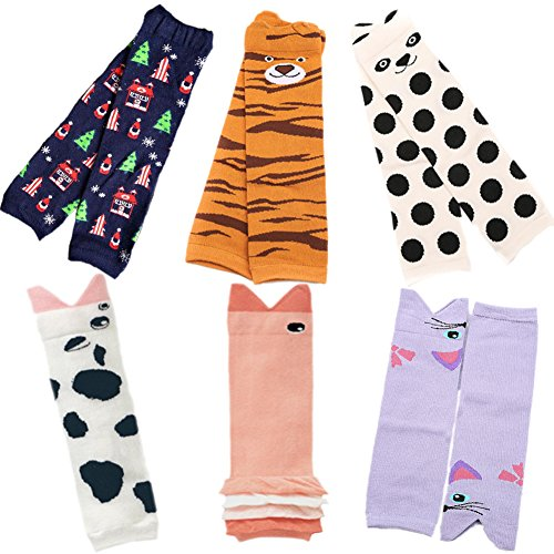 - Sept.Filles Baby and Toddler Leg Warmers 3.15'' x 11.8'' Packs of 6(B)