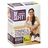 Forever Fit by Denise Austin, Ankle/Wrist Weights, Toning & Strength, 1 lb Each 2 weights