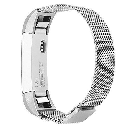 Fitbit alta banda, top4cus Correa Bandas de Fitbit alta HR/Fitbit alta Accesorios Pulsera Metal Banda Ajustable con cierre...