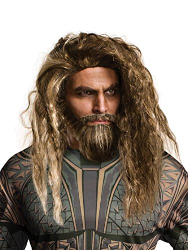 Rubie's Costume Co Men's Justice League Aquaman Beard & Wig, As Shown, One Size]()