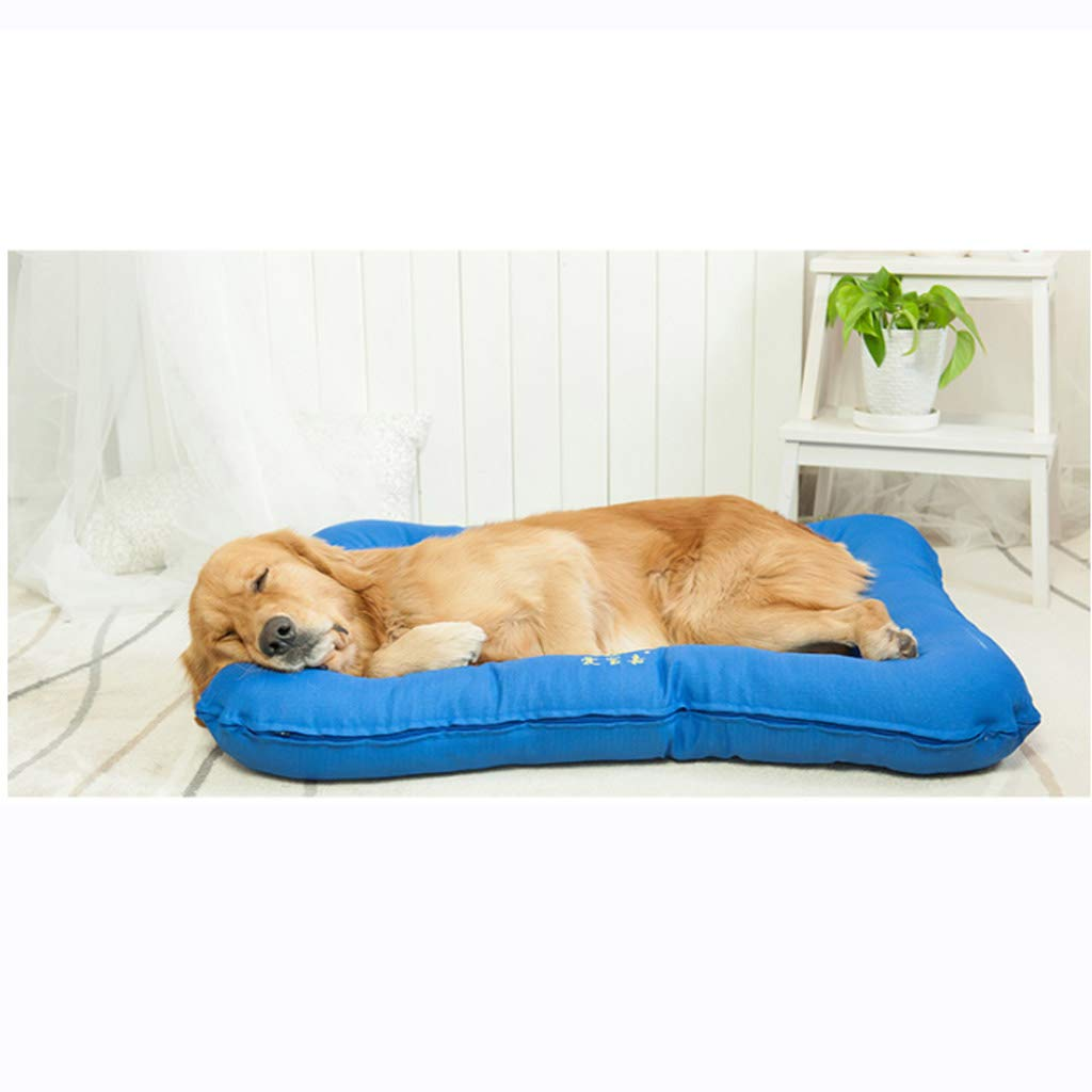 bluee 956510cmKennel detachable small medium and large dog pet nest dog mat four seasons universal78  56  8cm