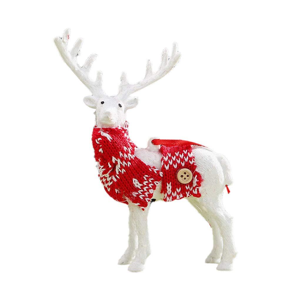 Deer Christmas Xmas Reindeer Kid Doll Decor Home Decoration Party Ornament