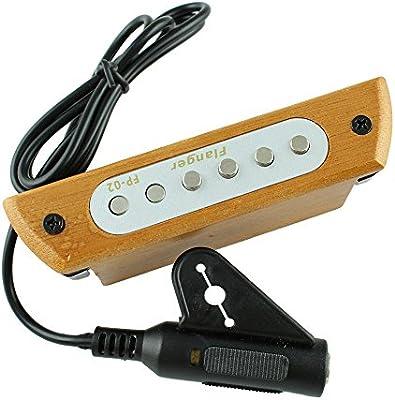 Pastilla de guitarra, magnético 6 agujero transductor para guitarra ...