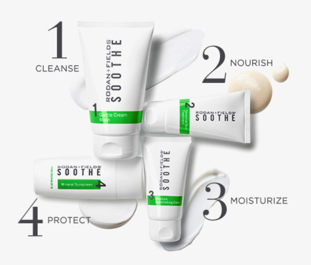 Rodan and Fields SOOTHE Regimen - Travel Size 4 count - For Sensitive Skin