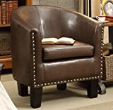 Best Club Chairs - Millbury Home Isabela Arm Club Chair, PU Leather Review