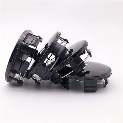"""FT&C 4 PCS 63mm 2.5"""" ABS Aluminum Black Car Custom Hub Wheel Center Centre Caps Cover 5QW99TRMAA: Automotive"""