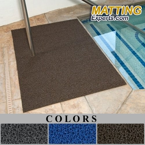 Pool Flooring (Entrance Runner Water Absorbing Spaghetti Vinyl Loop Mat for Pool Shower Locker-Room Sauna SPA Water Drying 3/8
