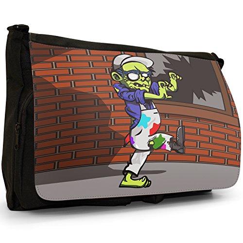 Black Bag Plague Laptop Dead Shoulder School Canvas Painter Living Zombie Messenger Large AXfUq