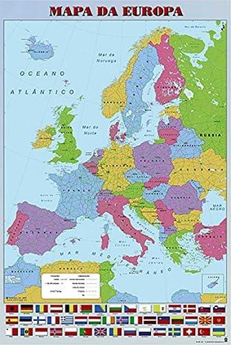 Grupo Erik Editores Poster Mapa Europa Pt Politico: Amazon.es: Oficina y papelería