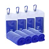 """Best Cooling Towels - Sukeen [4 Pack] Cooling Towel (40""""x12""""),Ice Towel,Soft Breathable Review"""
