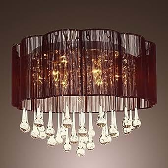 De cristal de lámpara de techo con 6 luces, 220-240V