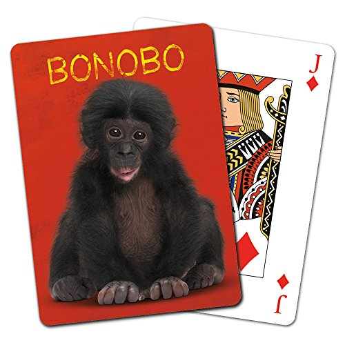 Tree-Free Greetings Deck of Playing Cards, 2.5 x 0.8 x 3.5 Inches, Bonobo  (CD49746)
