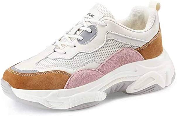 Zapatos de Mujer Zapatillas de Deporte para Correr en Primavera y otoño Zapatillas con Suela Gruesa Running Endurance: Amazon.es: Zapatos y complementos