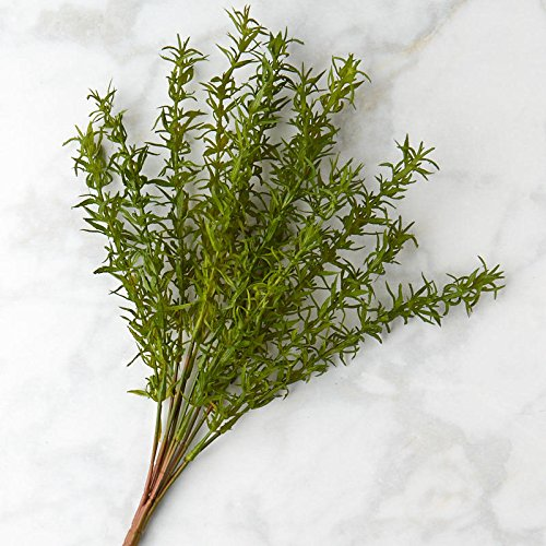(Factory Direct Craft Vinyl Artificial Rosemary Bushes for Indoor or Outdoor Decor - 2 Bushes)
