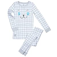 Papallou Boys Girls Sleepy Face Print Pajama Set