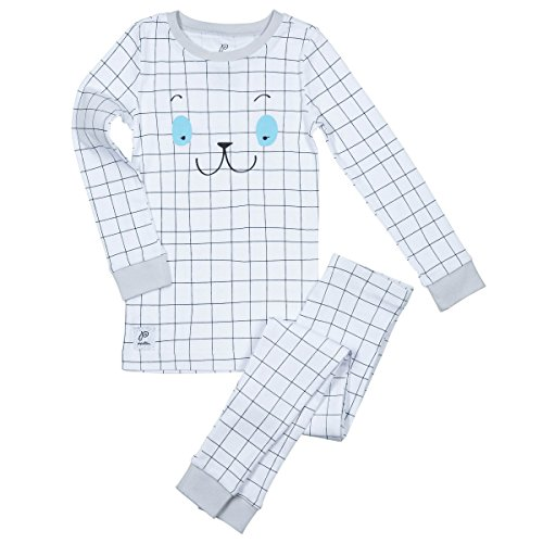 Papallou Sleepy Face Print Pajama Set ,Boys,4T