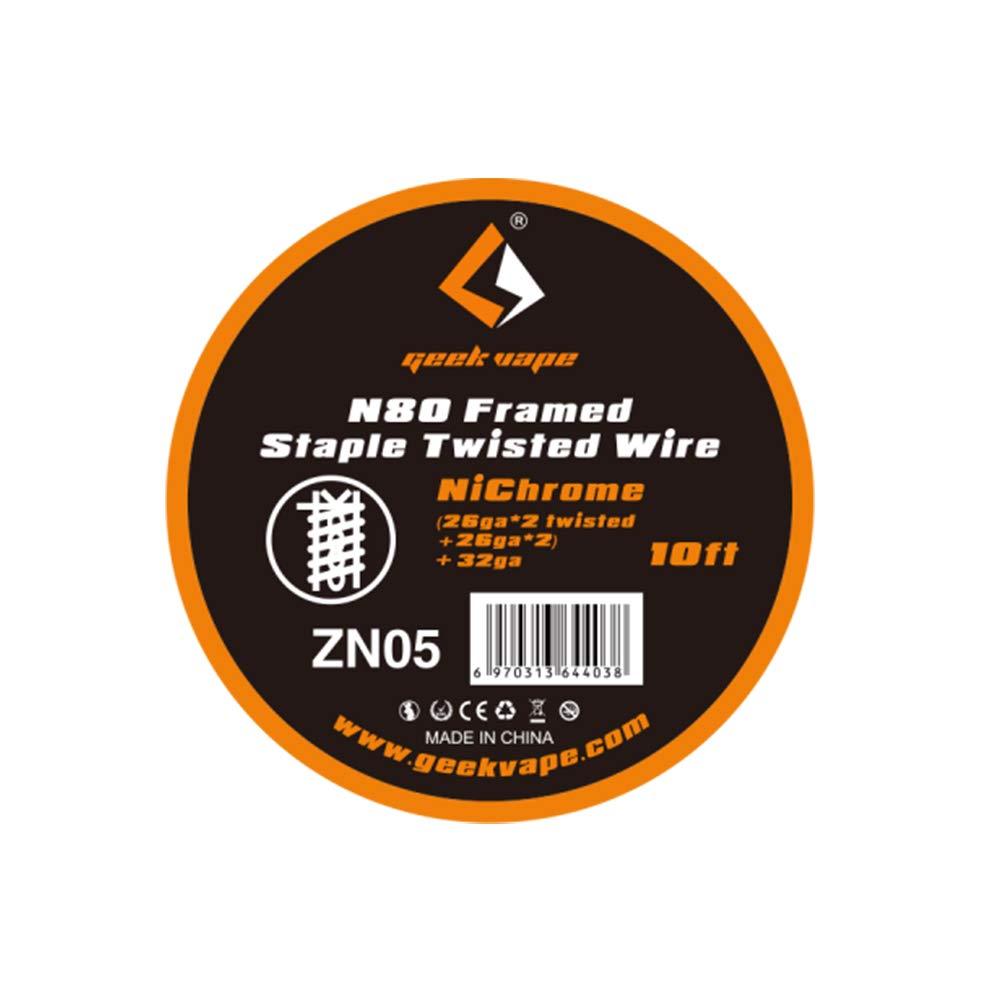 10 Feet Geekvape Ni80 Nichrome Fused Clapton Heating Coil Wire Fil de r/ésistance bobine
