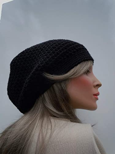 Amazon.com  Black Slouchy Beanie ee841030b50