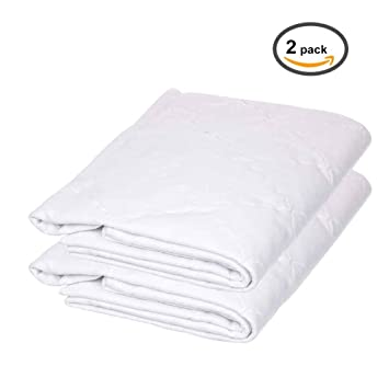 Amazon Com Ultra Soft Fitted Crib Mattress Protector Pads 2 Pack