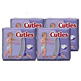 Cuties Baby Diapers, Size 4, 31-Count, Pack of 4 Image