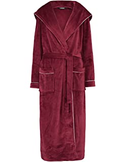 Slenderella GL8746 Women s Rasberry Red Robe Long Sleeve Dressing Gown a536b864f