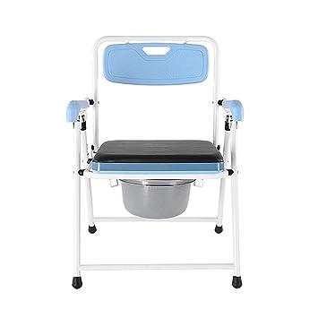 Jmung Silla WC con Inodoro Silla Plegable Asiento Acolchado ...
