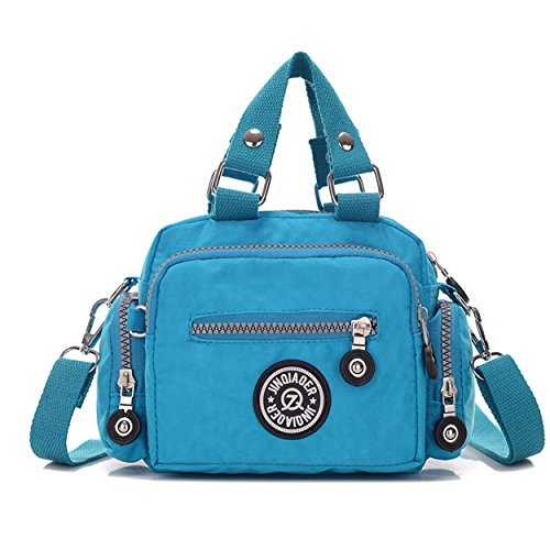 Girls Solid Chou Color Azure Nylon Tiny Cross Resistant Water Women Mini amp; Handbag Body for Bag Shoulder qTZWwE