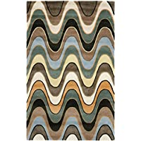 Safavieh Wyndham Collection WYD410A Handmade Multicolored Wool Area Rug, 5 feet by 8 feet (5 x 8)