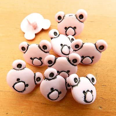 Cream No 8 Always Knitting and Sewing 10 X Cute Teddy Bear Buttons 15mm