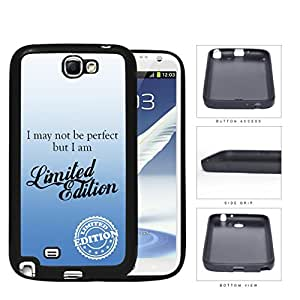 I Am Limited Edition Blue Rubber Silicone TPU Cell Phone Case Samsung Galaxy Note 2 II N7100