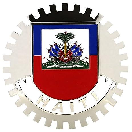 Amazon Flag Of Haiti Car Grille Emblem Badges Sports Outdoors
