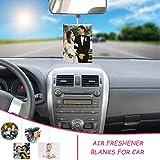 50PCS Air Fresheners Sheets, Sublimation