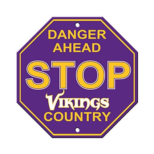 Vikings Office Minnesota - NFL Minnesota Vikings Stop Sign, 12