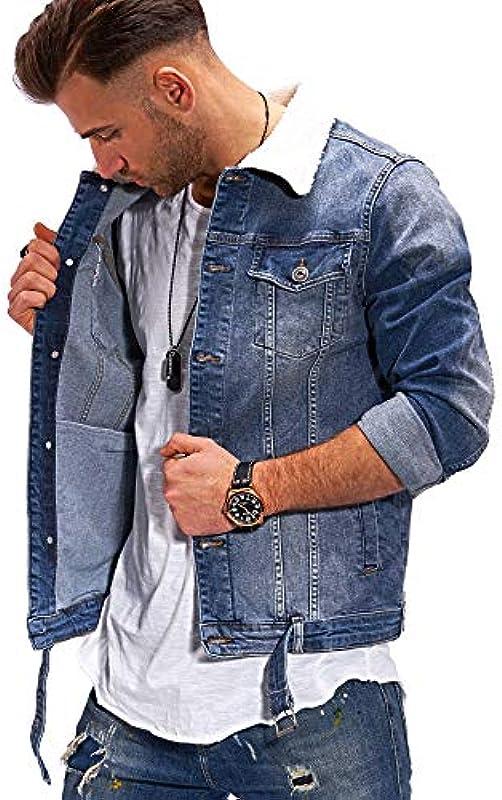 Rello & Reese męska kurtka dżinsowa z pluszowym futerkiem Denim C-422: Odzież